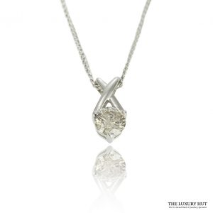 Shop 9ct White Gold 0.25ct Diamond Pendant - Order Online Today For Next Day Delivery