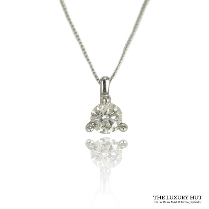 Shop 9ct White Gold 0.14ct Diamond Pendant - Order Online Today For Next Day Delivery