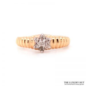 Shop 9ct Yellow Gold 0.15ct Diamond Cluster Ring - Order Online Today For Next Day Delivery