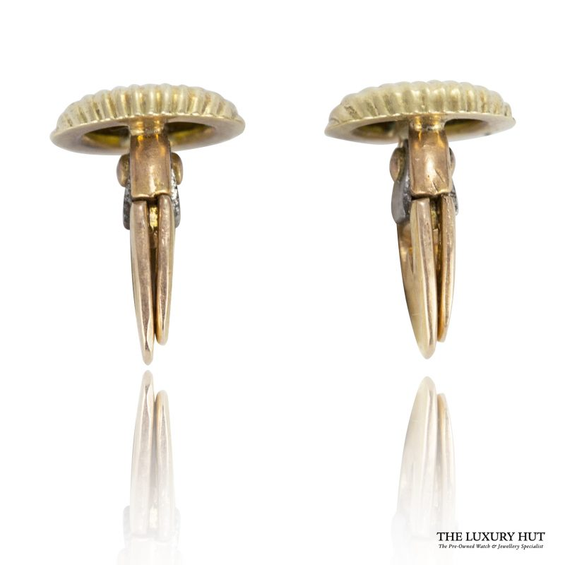 Shop Vintage 18ct Yellow Gold French Dress Studs - Order Online