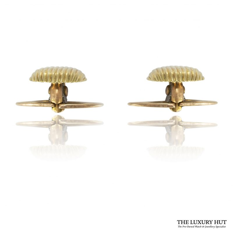 Shop Vintage 18ct Yellow Gold French Dress Studs - Order