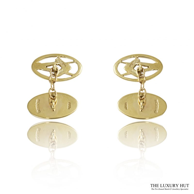 Shop 9ct Yellow Gold Masonic Chain Link Cufflinks - Order Online Today