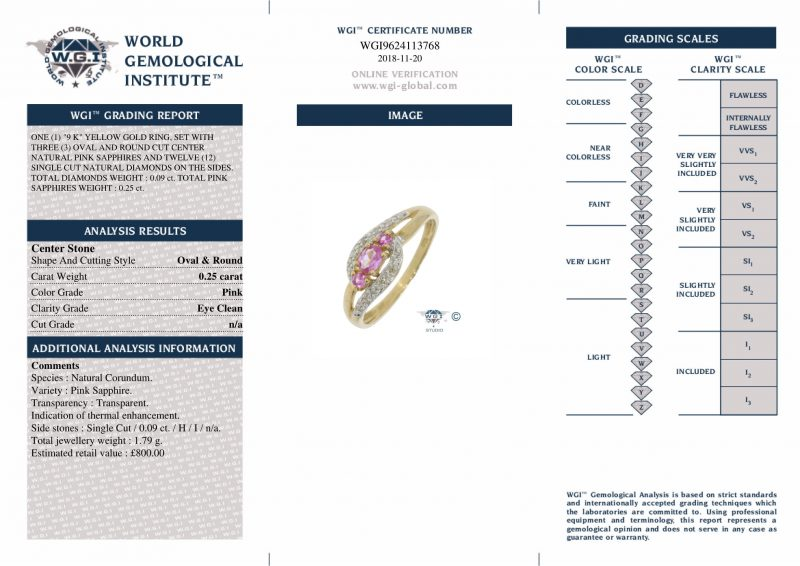 Shop 9ct Yellow Gold Pink Sapphire & Diamond Cluster Ring - Order