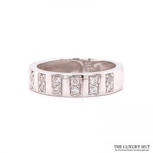 Shop 18ct White Gold 0.14ct Certified Diamond Band Ring - Order Online Today For Next Day