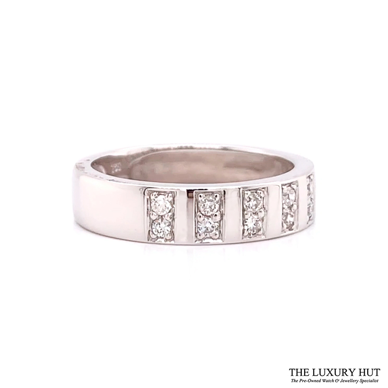 Shop 18ct White Gold 0.14ct Certified Diamond Band Ring