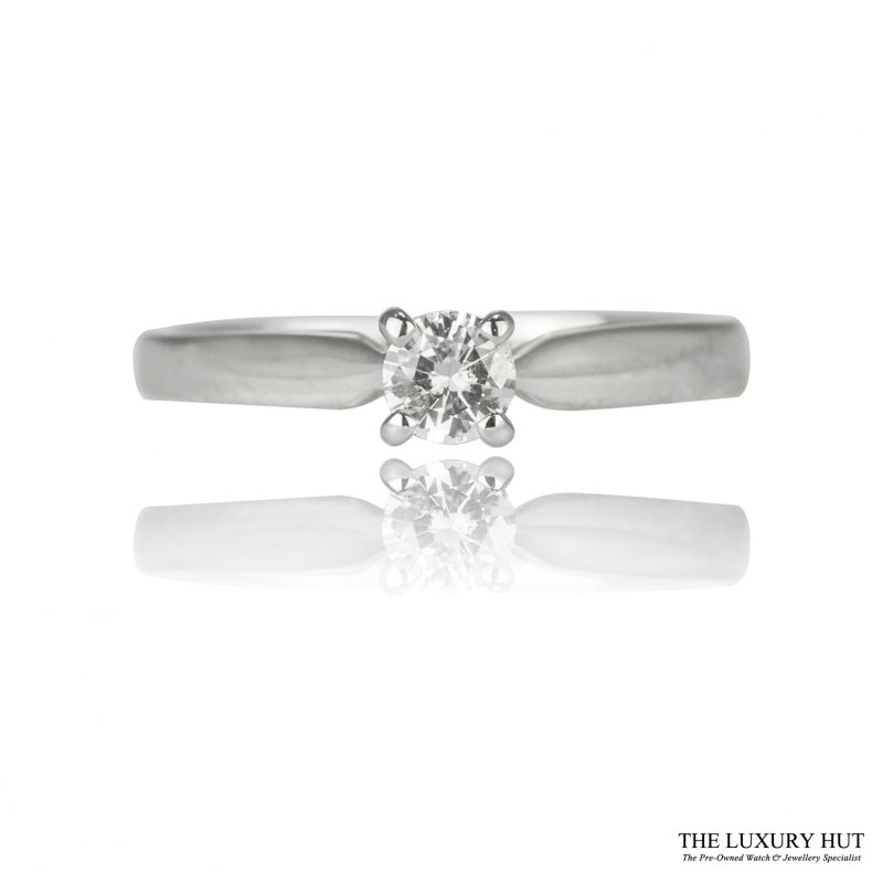 Shop 18ct White Gold 0.25ct Diamond Engagement Ring - Order Online Today For Next Day Delivery