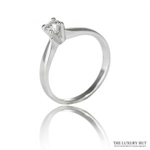 Shop 18ct White Gold 0.25ct Diamond Engagement Ring - Order Online Today For Next Day