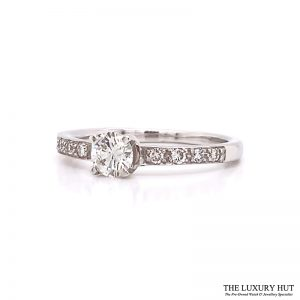 Shop 18ct White Gold & 0.33ct Diamond Engagement Ring - Order Online Today For Next Day