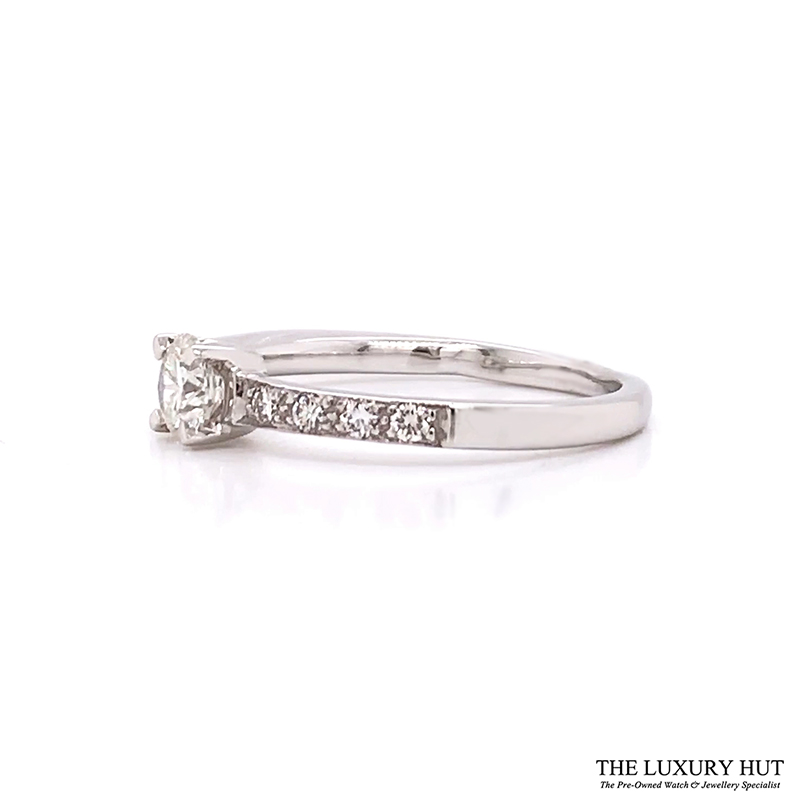 Shop 18ct White Gold & 0.33ct Diamond Engagement Ring - Order Online