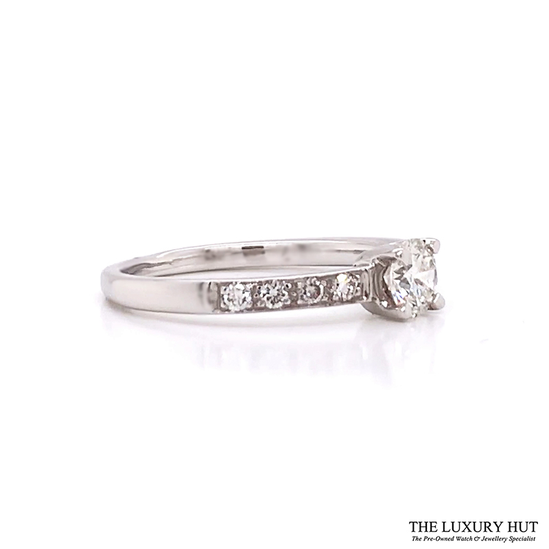 Shop 18ct White Gold & 0.33ct Diamond Engagement Ring -