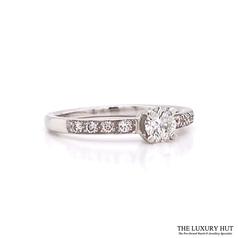Shop 18ct White Gold & 0.33ct Diamond Engagement Ring