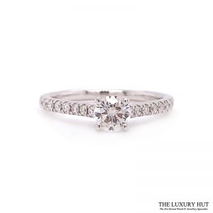 Shop 18ct White Gold 0.59ct Diamond Solitaire Engagement Ring - Order Online Today For Next Day Delivery