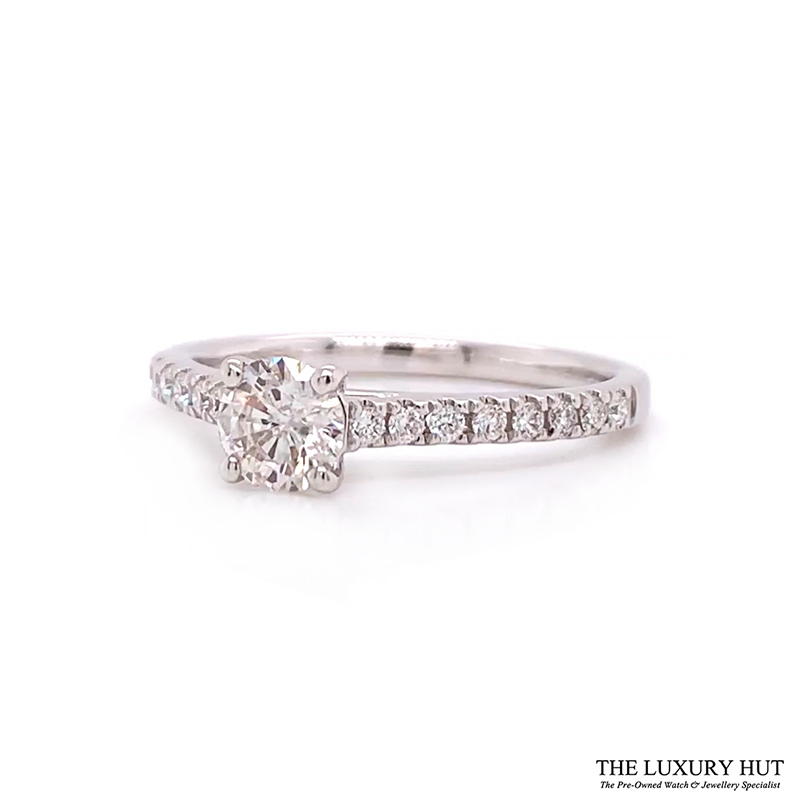 Shop 18ct White Gold 0.59ct Diamond Solitaire Engagement Ring - Order Online Today For Next Day