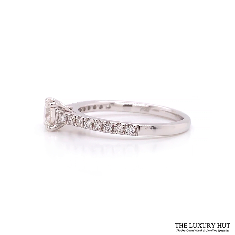 Shop 18ct White Gold 0.59ct Diamond Solitaire Engagement Ring - Order Online