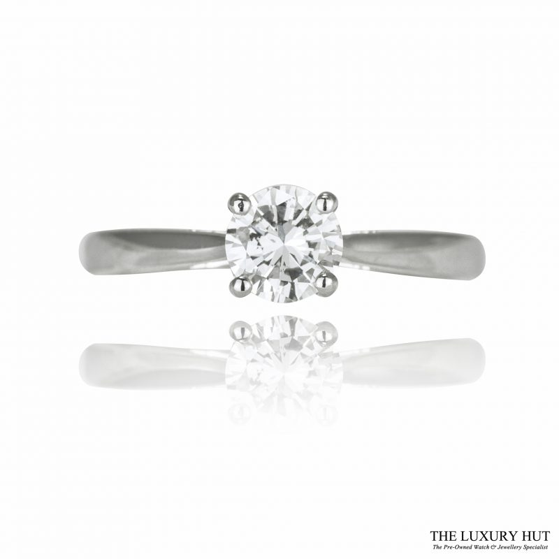Shop 18ct White Gold Diamond Solitaire Engagement Ring Order Online Today For Next Day Delivery