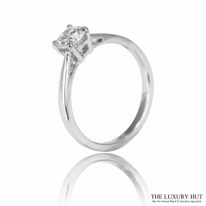 Shop 18ct White Gold Diamond Solitaire Engagement Ring Order Online Today For Next Day