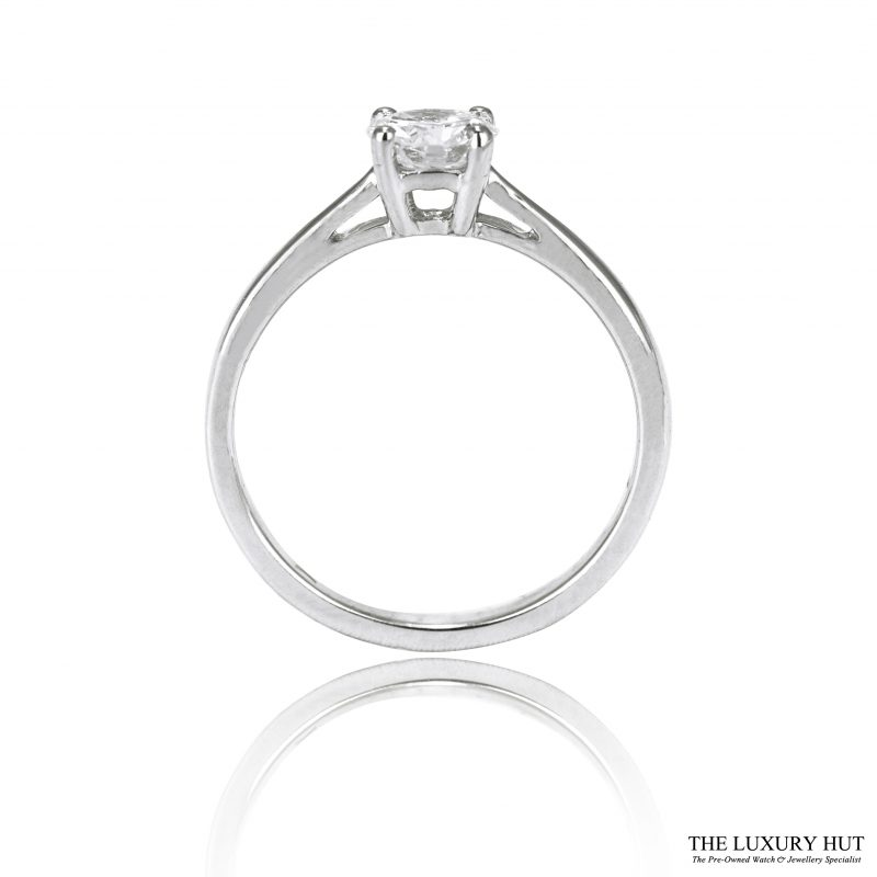 Shop 18ct White Gold Diamond Solitaire Engagement Ring Order Online Today