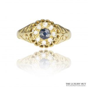 Shop 18ct Yellow Gold Sapphire & Diamond Cluster Ring - Order Online Today For Next Day Delivery