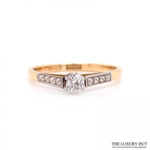 Shop Platinum & 18ct Yellow Gold Diamond Engagement Ring - Order Online Today For Next Day Delivery