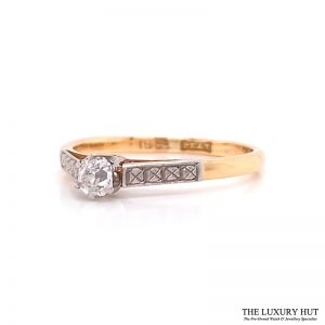 Shop Platinum & 18ct Yellow Gold Diamond Engagement Ring - Order Online Today For Next Day