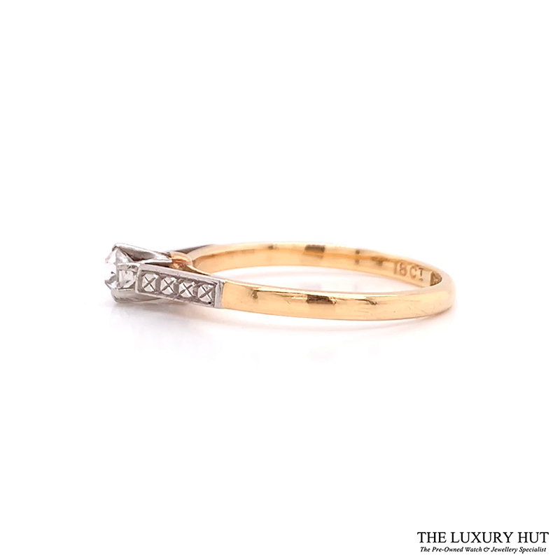 Shop Platinum & 18ct Yellow Gold Diamond Engagement Ring - Order Online Today
