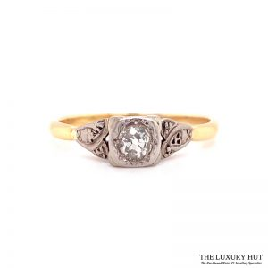 Platinum & 18ct Yellow Gold Diamond Engagement Ring - Order Online Today For Next Day Delivery