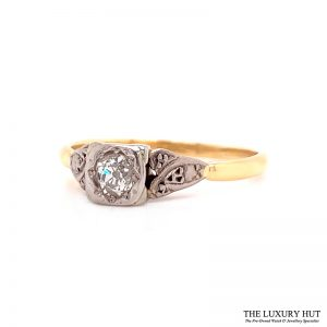 Platinum & 18ct Yellow Gold Diamond Engagement Ring - Order Online Today For Next Day