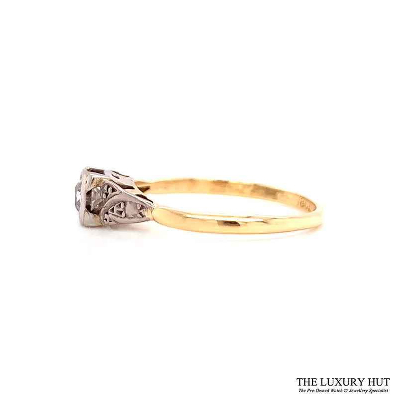 Platinum & 18ct Yellow Gold Diamond Engagement Ring - Order Online