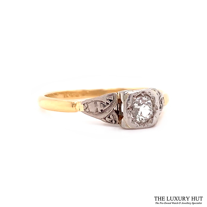 Platinum & 18ct Yellow Gold Diamond Engagement Ring