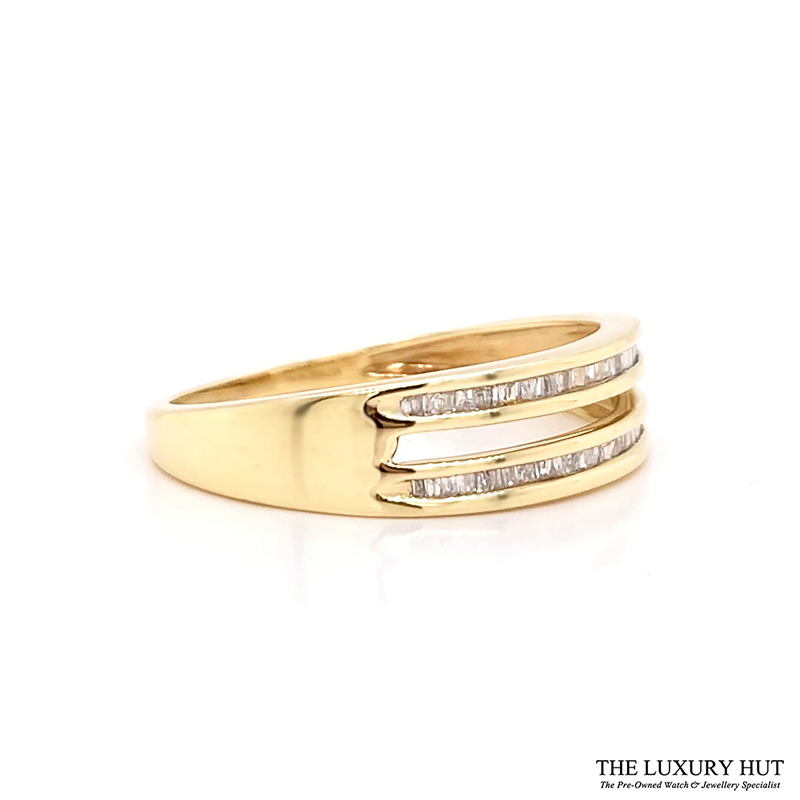 9ct Yellow Gold 0.20ct Diamond Twin Row Band Ring Order Online