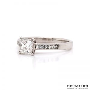 Shop Palladium 0.80ct GIA Certified Diamond Solitaire Ring - Order Online Today For Next Day