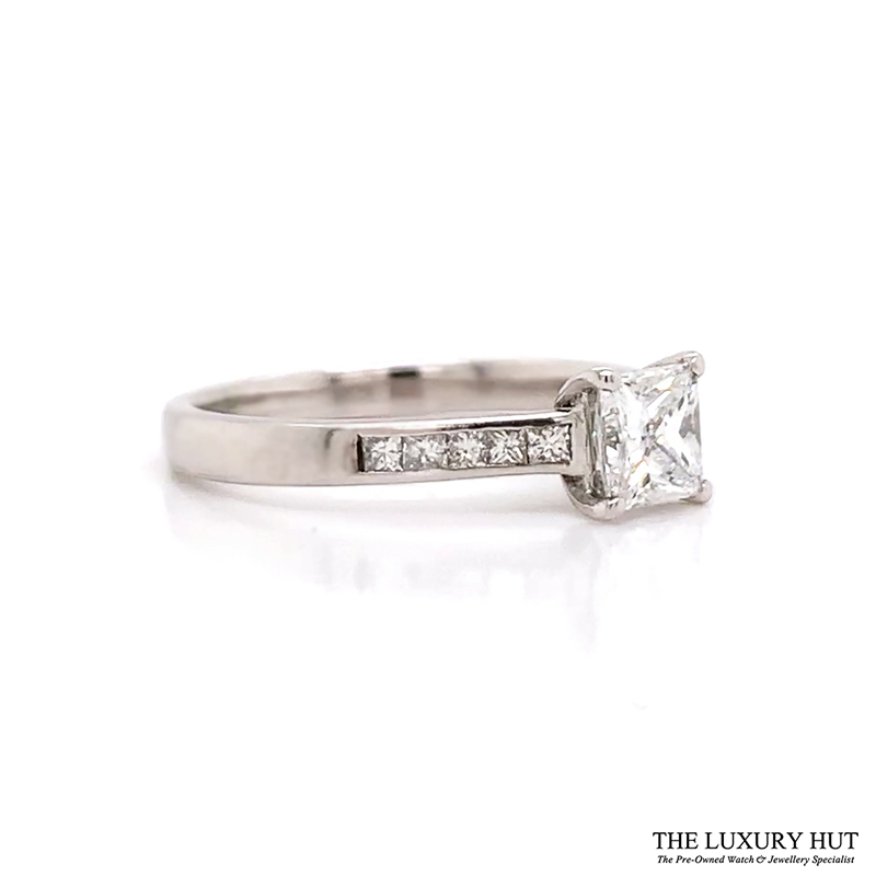 Shop Palladium 0.80ct GIA Certified Diamond Solitaire Ring