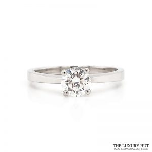 Platinum GIA 0.55ct Certified Diamond Engagement Ring - Order Online Today For Next Day Delivery