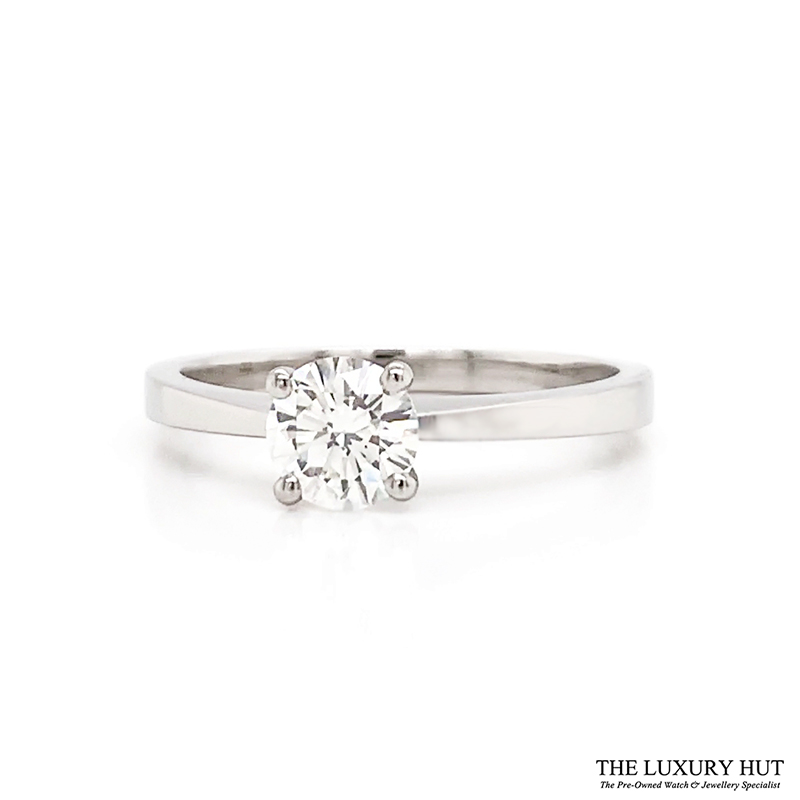 Platinum GIA 0.55ct Certified Diamond Engagement Ring - Order Online Today For Next Day