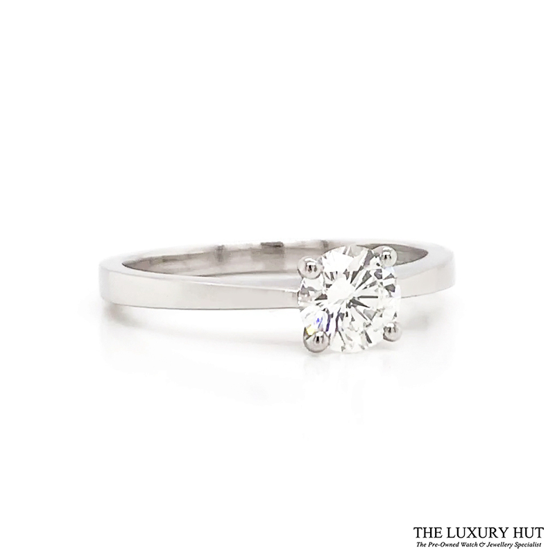 Platinum GIA 0.55ct Certified Diamond Engagement Ring - Order Online Today Delivery