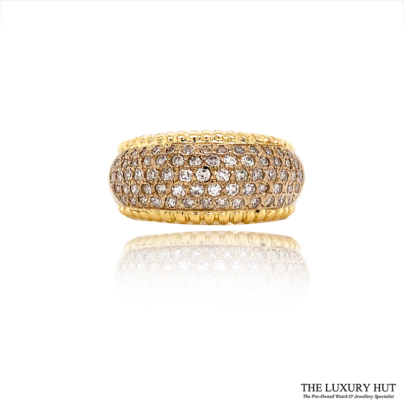 Shop 18ct Yellow Gold 0.70ct Diamond Band Ring - Order Online Today For Next Day Delivery