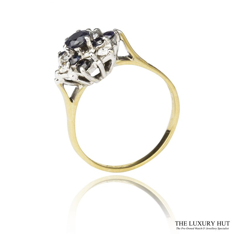 Shop 18ct & 9ct Sapphire & Diamond Cluster Ring - Order Online Today For Next Day