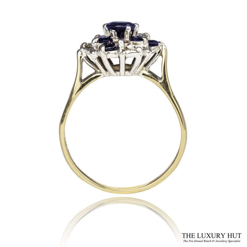 Shop 18ct & 9ct Sapphire & Diamond Cluster Ring - Order Online Today