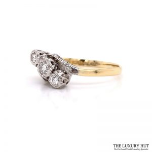 Shop 18ct Gold & Platinum 0.40ct Diamond Trilogy Ring - Order Online Today For Next Day