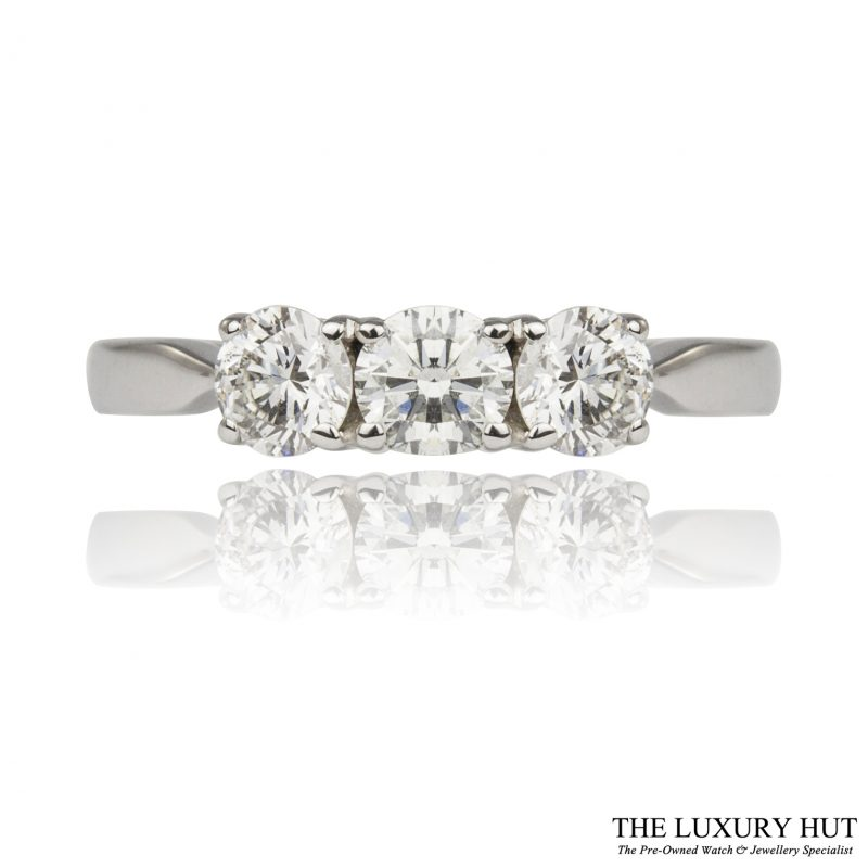 Shop 18ct White Gold 0.75ct Diamond Trilogy Ring - Order Online Today For Next Day Delivery