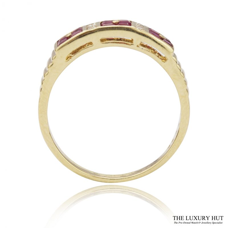 Shop 18ct Yellow Gold Ruby & Diamond Band Ring - Order Online Today