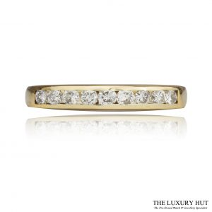 Shop 9ct Yellow Gold 0.18ct Diamond Band Ring - Order Online Today For Next Day Delivery