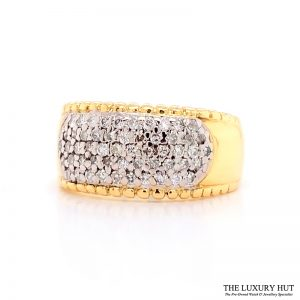 Shop 18ct White & Yellow Gold 0.50ct Diamond Band Ring - Order Online Today For Next Day