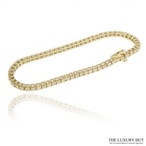 Shop 18ct Yellow Gold 2.00ct Diamond Tennis Bracelet -Order Online Today For Next Day Delivery
