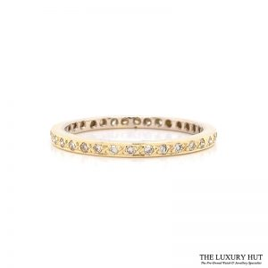 Shop 18ct Yellow Gold 0.34ct Diamond Full Eternity Ring - Order Online Today For Next Day Delivery