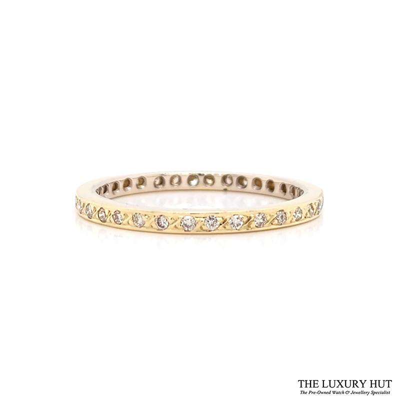 Shop 18ct Yellow Gold 0.34ct Diamond Full Eternity Ring - Order Online Today For Next Day
