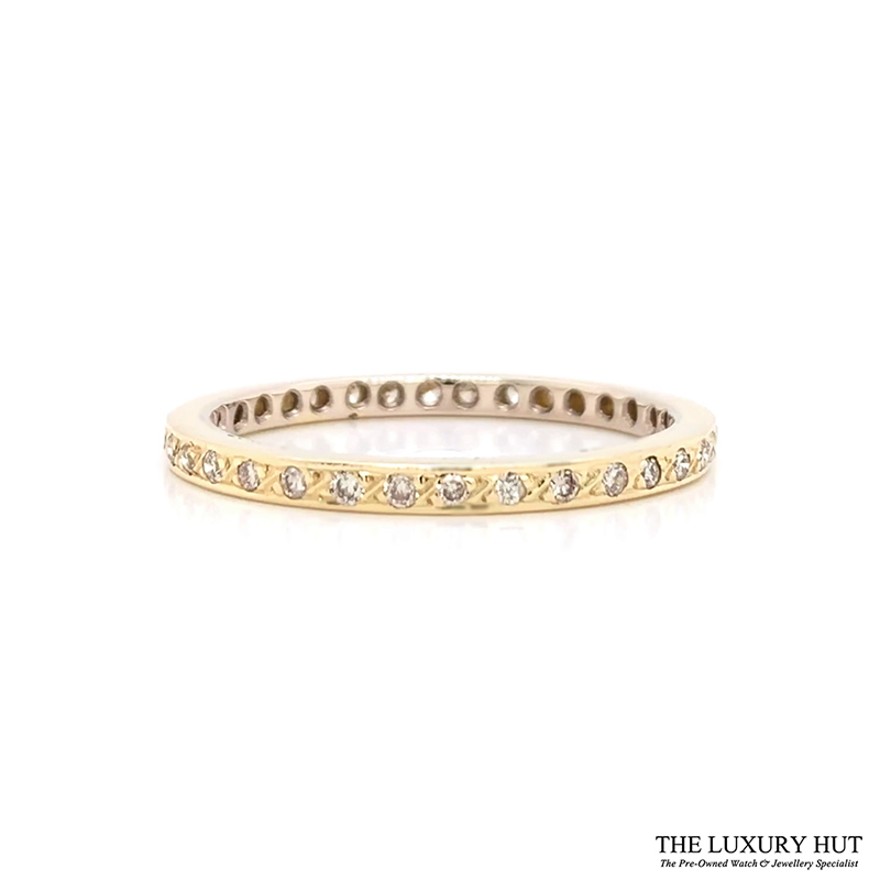 Shop 18ct Yellow Gold 0.34ct Diamond Full Eternity Ring - Order Online