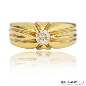 Shop 18ct Yellow Gold Vintage 0.45ct Gents Diamond Ring - Order Online Today For Next Day Delivery
