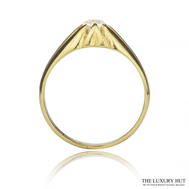 Shop 18ct Yellow Gold Vintage 0.45ct Gents Diamond Ring - Order Online Today
