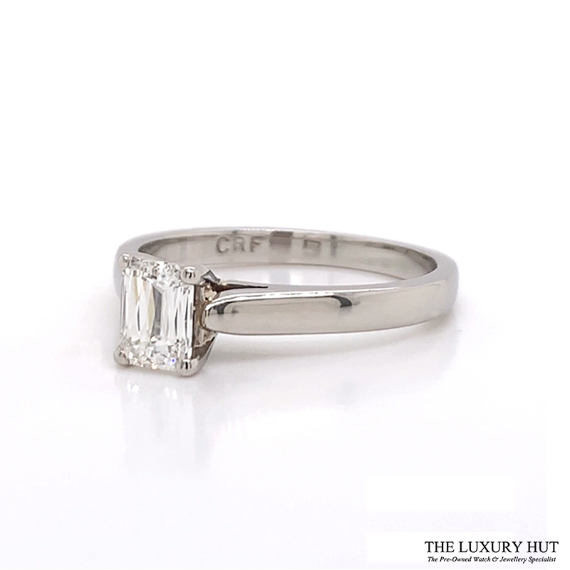 Platinum Beaverbrooks 0.60ct Crisscut Diamond Engagement Ring - Order Online Today For Next Day